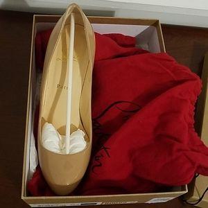 Christian louboutin Neofilo 120 Patent Nude heels